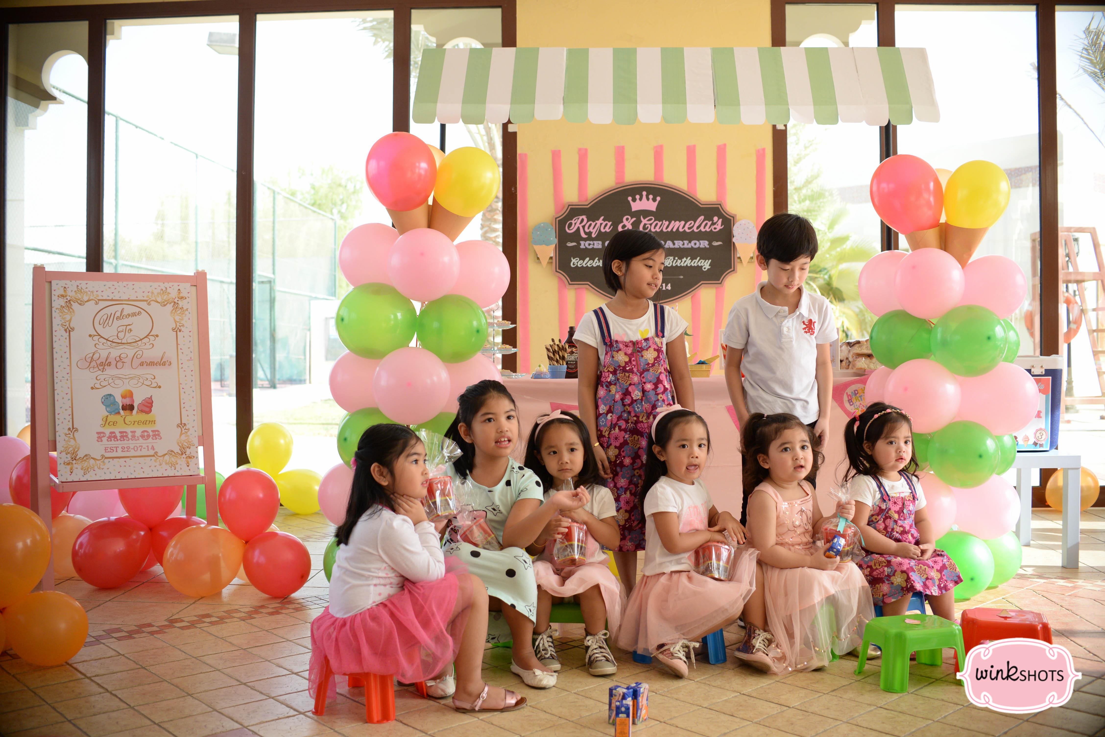 * Rafa And Carmela's Ice Cream Themed Party *